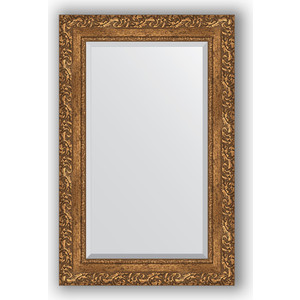 Зеркало с фацетом в багетной раме поворотное Evoform Exclusive 55x85 см, виньетка бронзовая 85 мм (BY 1240) зеркало с гравировкой поворотное evoform exclusive g 130x185 см в багетной раме виньетка бронзовая 85 мм by 4486