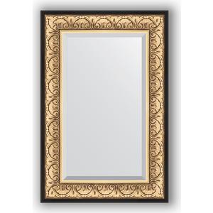 цена Зеркало с фацетом в багетной раме поворотное Evoform Exclusive 60x90 см, барокко золото 106 мм (BY 1241)