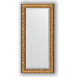 Зеркало с фацетом в багетной раме поворотное Evoform Exclusive 54x114 см, медный эльдорадо 73 мм (BY 1243)