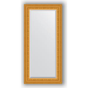 Зеркало с фацетом в багетной раме поворотное Evoform Exclusive 55x115 см, сусальное золото 80 мм (BY 1244) evoform by 1244