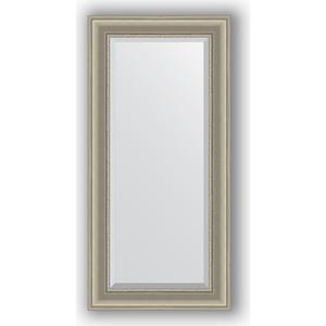 Зеркало с фацетом в багетной раме поворотное Evoform Exclusive 56x116 см, хамелеон 88 мм (BY 1245) зеркало с фацетом в багетной раме поворотное evoform exclusive 53x83 см прованс с плетением 70 мм by 3407