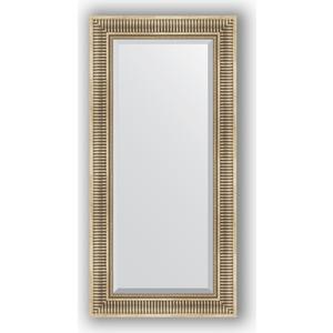 Зеркало с фацетом в багетной раме поворотное Evoform Exclusive 57x117 см, серебряный акведук 93 мм (BY 1248) зеркало с фацетом в багетной раме поворотное evoform exclusive 53x83 см прованс с плетением 70 мм by 3407