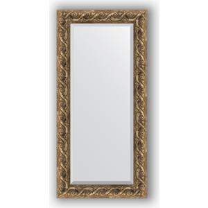 Зеркало с фацетом в багетной раме поворотное Evoform Exclusive 56x116 см, фреска 84 мм (BY 1249) зеркало с фацетом в багетной раме evoform exclusive 56x86 см фреска 84 мм by 1239