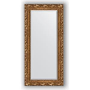 Зеркало с фацетом в багетной раме поворотное Evoform Exclusive 55x115 см, виньетка бронзовая 85 мм (BY 1250) зеркало с гравировкой поворотное evoform exclusive g 130x185 см в багетной раме виньетка бронзовая 85 мм by 4486