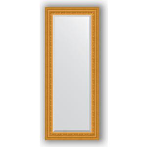 Зеркало с фацетом в багетной раме поворотное Evoform Exclusive 55x135 см, сусальное золото 80 мм (BY 1254) зеркало с фацетом в багетной раме поворотное evoform exclusive 71x161 см палисандр 62 мм by 1204