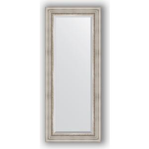 Зеркало с фацетом в багетной раме поворотное Evoform Exclusive 56x136 см, римское серебро 88 мм (BY 1257)