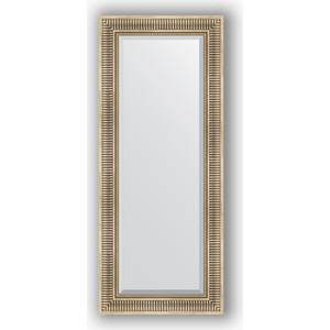 Зеркало с фацетом в багетной раме поворотное Evoform Exclusive 57x137 см, серебряный акведук 93 мм (BY 1258) зеркало evoform by 3170