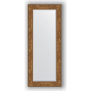 Зеркало с фацетом в багетной раме поворотное Evoform Exclusive 55x135 см, виньетка бронзовая 85 мм (BY 1260) зеркало с гравировкой поворотное evoform exclusive g 130x185 см в багетной раме виньетка бронзовая 85 мм by 4486