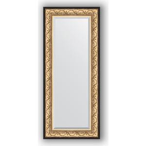 Зеркало с фацетом в багетной раме поворотное Evoform Exclusive 60x140 см, барокко золото 106 мм (BY 1261) цена