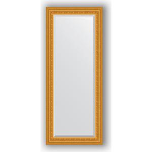 Зеркало с фацетом в багетной раме поворотное Evoform Exclusive 60x145 см, сусальное золото 80 мм (BY 1264) зеркало с гравировкой поворотное evoform exclusive g 130x184 см в багетной раме сусальное золото 80 мм by 4482