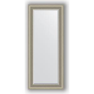 Зеркало с фацетом в багетной раме поворотное Evoform Exclusive 61x146 см, хамелеон 88 мм (BY 1265) зеркало с фацетом в багетной раме поворотное evoform exclusive 53x83 см прованс с плетением 70 мм by 3407