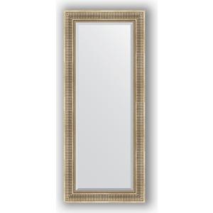 Зеркало с фацетом в багетной раме поворотное Evoform Exclusive 62x147 см, серебряный акведук 93 мм (BY 1268) зеркало с фацетом в багетной раме evoform exclusive 47x57 см бронзовый акведук 93 мм by 3362