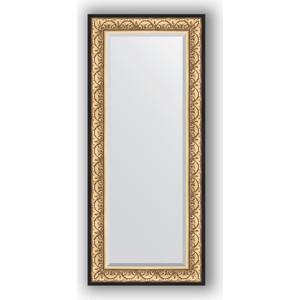Зеркало с фацетом в багетной раме поворотное Evoform Exclusive 65x150 см, барокко золото 106 мм (BY 1271) зеркало с фацетом в багетной раме поворотное evoform exclusive 71x161 см палисандр 62 мм by 1204
