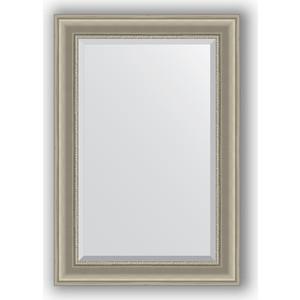 Зеркало с фацетом в багетной раме поворотное Evoform Exclusive 66x96 см, хамелеон 88 мм (BY 1275) зеркало с фацетом в багетной раме поворотное evoform exclusive 53x83 см прованс с плетением 70 мм by 3407