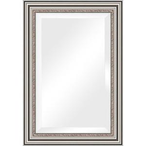 Зеркало с фацетом в багетной раме поворотное Evoform Exclusive 66x96 см, римское серебро 88 мм (BY 1277) зеркало с фацетом в багетной раме поворотное evoform exclusive 53x83 см прованс с плетением 70 мм by 3407