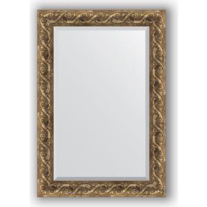 Зеркало с фацетом в багетной раме поворотное Evoform Exclusive 66x96 см, фреска 84 мм (BY 1279) зеркало с фацетом в багетной раме evoform exclusive 56x86 см фреска 84 мм by 1239