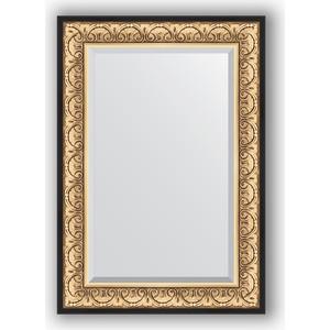 Зеркало с фацетом в багетной раме поворотное Evoform Exclusive 70x100 см, барокко золото 106 мм (BY 1281) зеркало с фацетом в багетной раме поворотное evoform exclusive 71x161 см палисандр 62 мм by 1204
