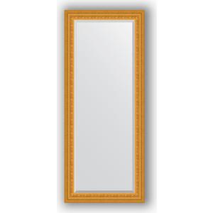 Зеркало с фацетом в багетной раме поворотное Evoform Exclusive 65x155 см, сусальное золото 80 мм (BY 1284) evoform зеркало в багетной раме evoform 52x142 см 6322099 mpmxd6r 6322099