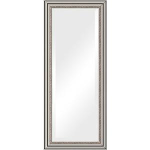Зеркало с фацетом в багетной раме поворотное Evoform Exclusive 66x156 см, римское серебро 88 мм (BY 1287)