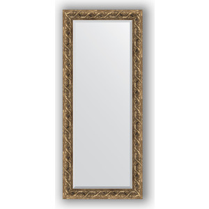 Зеркало с фацетом в багетной раме Evoform Exclusive 66x156 см, фреска 84 мм (BY 1289) зеркало с фацетом в багетной раме evoform exclusive 56x86 см фреска 84 мм by 1239