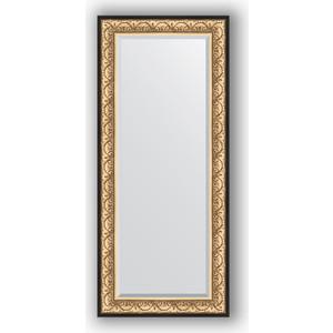 Зеркало с фацетом в багетной раме поворотное Evoform Exclusive 70x160 см, барокко золото 106 мм (BY 1291) зеркало с фацетом в багетной раме поворотное evoform exclusive 53x83 см прованс с плетением 70 мм by 3407