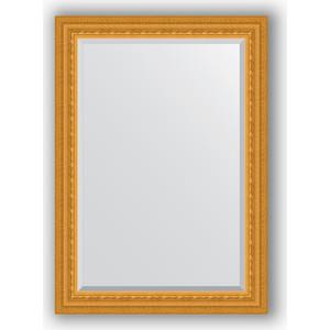 Зеркало с фацетом в багетной раме поворотное Evoform Exclusive 75x105 см, сусальное золото 80 мм (BY 1294) зеркало с гравировкой поворотное evoform exclusive g 130x184 см в багетной раме сусальное золото 80 мм by 4482