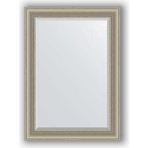 Зеркало с фацетом в багетной раме поворотное Evoform Exclusive 76x106 см, хамелеон 88 мм (BY 1295) зеркало с фацетом в багетной раме поворотное evoform exclusive 53x83 см прованс с плетением 70 мм by 3407