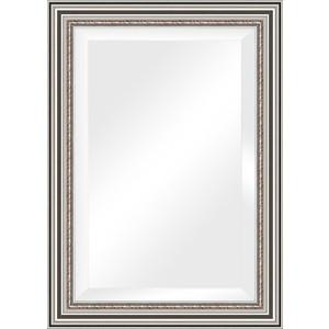 Зеркало с фацетом в багетной раме поворотное Evoform Exclusive 76x106 см, римское серебро 88 мм (BY 1297) зеркало с фацетом в багетной раме поворотное evoform exclusive 53x83 см прованс с плетением 70 мм by 3407