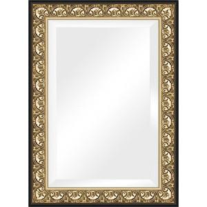 Зеркало с фацетом в багетной раме поворотное Evoform Exclusive 80x110 см, барокко золото 106 мм (BY 1301) зеркало с фацетом в багетной раме поворотное evoform exclusive 53x83 см прованс с плетением 70 мм by 3407