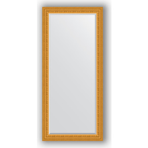 Зеркало с фацетом в багетной раме поворотное Evoform Exclusive 75x165 см, сусальное золото 80 мм (BY 1304) зеркало с фацетом в багетной раме поворотное evoform exclusive 53x83 см прованс с плетением 70 мм by 3407
