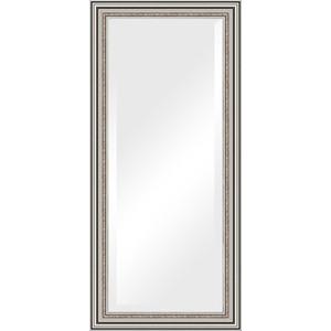Зеркало с фацетом в багетной раме поворотное Evoform Exclusive 76x166 см, римское серебро 88 мм (BY 1307) зеркало с фацетом в багетной раме поворотное evoform exclusive 76x166 см фреска 84 мм by 1309