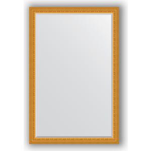 Зеркало с фацетом в багетной раме поворотное Evoform Exclusive 115x175 см, сусальное золото 80 мм (BY 1314) зеркало с гравировкой поворотное evoform exclusive g 130x184 см в багетной раме сусальное золото 80 мм by 4482