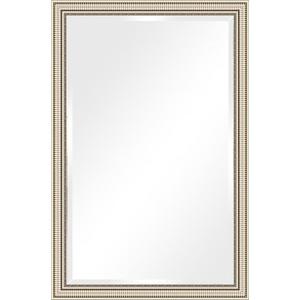 Зеркало с фацетом в багетной раме поворотное Evoform Exclusive 117x177 см, серебряный акведук 93 мм (BY 1318)