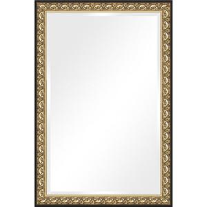Зеркало с фацетом в багетной раме поворотное Evoform Exclusive 120x180 см, барокко золото 106 мм (BY 1321) зеркало с фацетом в багетной раме поворотное evoform exclusive 53x83 см прованс с плетением 70 мм by 3407