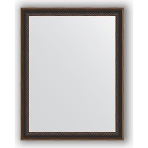 Зеркало в багетной раме Evoform Definite 35x45 см, витой махагон 28 мм (BY 1328) колонки stenn mw 1328