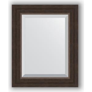 Зеркало с фацетом в багетной раме Evoform Exclusive 41x51 см, палисандр 62 мм (BY 1356) зеркало с фацетом в багетной раме поворотное evoform exclusive 51x111 см палисандр 62 мм by 1144