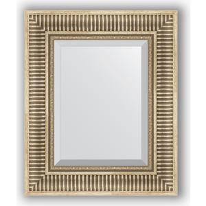 Зеркало с фацетом в багетной раме Evoform Exclusive 47x57 см, серебряный акведук 93 мм (BY 1370) зеркало с фацетом в багетной раме evoform exclusive 47x57 см бронзовый акведук 93 мм by 3362