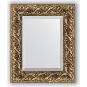 Зеркало с фацетом в багетной раме Evoform Exclusive 46x56 см, фреска 84 мм (BY 1371) зеркало с фацетом в багетной раме evoform exclusive 56x86 см фреска 84 мм by 1239