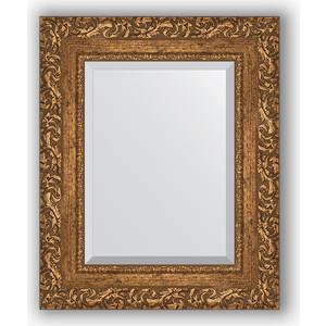 Зеркало с фацетом в багетной раме Evoform Exclusive 45x55 см, виньетка бронзовая 85 мм (BY 1372)