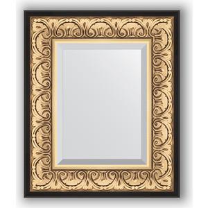 Зеркало с фацетом в багетной раме Evoform Exclusive 50x60 см, барокко золото 106 мм (BY 1373) cisa12011 60 50 в москве