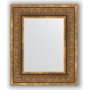 Зеркало в багетной раме Evoform Definite 49x59 см, вензель бронзовый 101 мм (BY 3031) цена