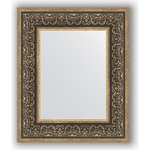 Зеркало в багетной раме Evoform Definite 49x59 см, вензель серебряный 101 мм (BY 3032) цена