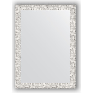 Зеркало в багетной раме поворотное Evoform Definite 51x71 см, чеканка белая 46 мм (BY 3034) зеркало в багетной раме поворотное evoform definite 71x151 см мозаика хром 46 мм by 3324