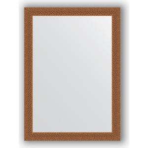 Зеркало в багетной раме поворотное Evoform Definite 51x71 см, мозаика медь 46 мм (BY 3035) зеркало в багетной раме поворотное evoform definite 51x71 см мозаика хром 46 мм by 3036