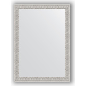 Зеркало в багетной раме поворотное Evoform Definite 51x71 см, волна алюминий 46 мм (BY 3038) зеркало в багетной раме поворотное evoform definite 51x71 см мозаика хром 46 мм by 3036