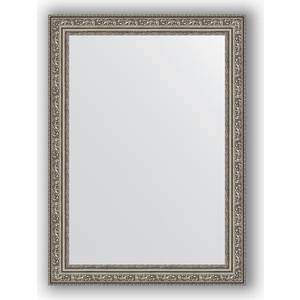 Зеркало в багетной раме поворотное Evoform Definite 54x74 см, виньетка состаренное серебро 56 мм (BY 3040) зеркало в багетной раме поворотное evoform definite 74x134 см виньетка состаренное золото 56 мм by 3295