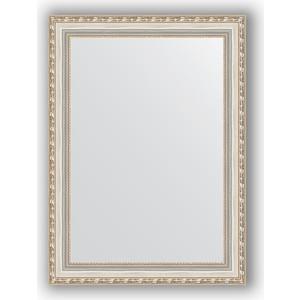 Зеркало в багетной раме поворотное Evoform Definite 55x75 см, версаль серебро 64 мм (BY 3046) зеркало в багетной раме evoform definite 75x75 см версаль кракелюр 64 мм by 3237