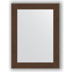 Зеркало в багетной раме поворотное Evoform Definite 56x76 см, мозаика античная медь 70 мм (BY 3049) зеркало в багетной раме поворотное evoform definite 56x76 см соты алюминий 70 мм by 3051