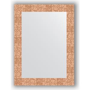 Зеркало в багетной раме поворотное Evoform Definite 56x76 см, соты медь 70 мм (BY 3050) зеркало в багетной раме поворотное evoform definite 56x76 см мозаика античная медь 70 мм by 3049