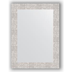 Зеркало в багетной раме поворотное Evoform Definite 56x76 см, соты алюминий 70 мм (BY 3051) зеркало в багетной раме поворотное evoform definite 56x76 см серебряный дождь 70 мм by 3048